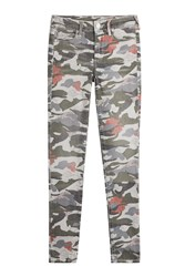 True Religion Mid Rise Camouflage Printed Skinny Jeans Gr. 30