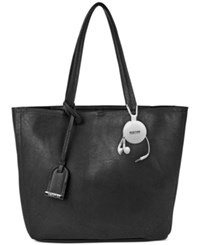 Kenneth Cole Reaction Clean Slate Shopper With Retractable Earphones Black