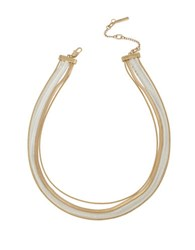 Kenneth Cole Modern Essentials Snake Multi Chain Necklace Two Tone
