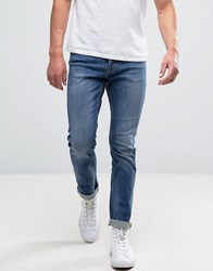 New Look Slim Jeans In Mid Wash Blue