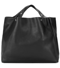 Marni Voile Leather Shopper Black