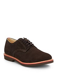 Walk Over Suede Kiltie Midi Derby Shoes