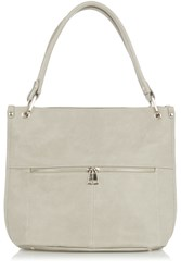 Oasis Hayley Suede Patched Hobo Grey