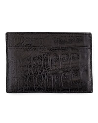 Walter Steiger Crocodile Card Holder Black
