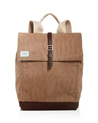 Toms Waxed Canvas Trekker Backpack Olive