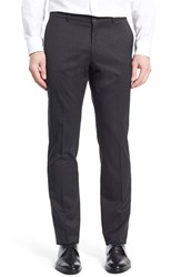 Men's Ballin Regular Fit Flat Front Trousers Charcoal