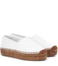 Dolce And Gabbana Leather Espadrilles White