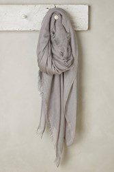 Anthropologie Stardust Square Scarf Silver