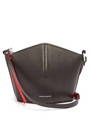 Alexander Mcqueen Leather Cross Body Bag Black Red