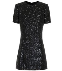 Saint Laurent Sequined Minidress Black