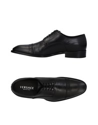 Versace Lace Up Shoes Black