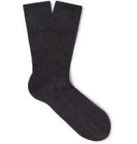 Falke Tiago Stretch Cotton Blend Socks Charcoal