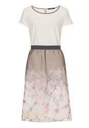Betty Barclay Dress With Floral Layered Skirt Multi Coloured
