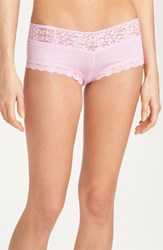 Hanky Panky Women's 'Logo To Go' Boyshorts Cotton Candy