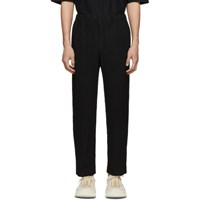 Homme Plisse Issey Miyake Black Tailored Pleats Trousers