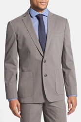 Wallin And Bros Trim Fit Cotton Blazer Gray