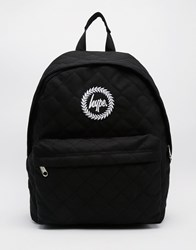 Hype Quilted Backpack In Black Black
