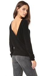 Equipment Calais V Back Cashmere Sweater Black