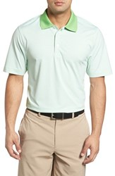 Cutter And Buck Men's Cardinal Stripe Drytec Polo