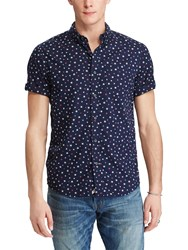 Denim And Supply Ralph Lauren Short Sleeve Star Cotton Poplin Shirt New Star Print