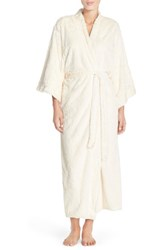Women's Natori Faux Fur Long Robe White
