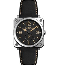 Bell And Ross Br S Heritage Aviation Stainless Steel Leather