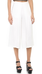 Clover Canyon Wide Leg Cropped Pants White