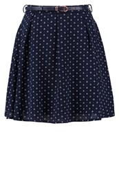 Yumi Anchor Aline Skirt Dark Blue