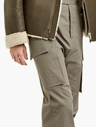 Rick Owens Grey Oversized Cargo Trousers Green