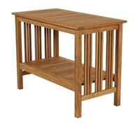 Barlow Tyrie Mission Teak Serving Table Beige