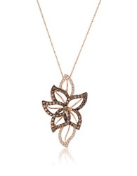 Le Vian Chocolatier Crazy Vanilla And Chocolate Diamond And 14K Strawberry Gold Pendant Necklace