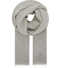 Corneliani Linen Scarf Soft Grey