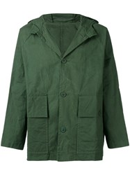 Casey Casey Hooded Military Jacket Green