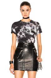 Rodarte Crystal Tie Dye T Shirt In Black Ombre And Tie Dye Black Ombre And Tie Dye