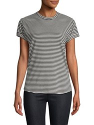 Sandrine Rose Striped Crewneck Tee Bourbon