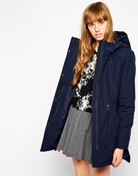 Mbym Hooded Jacket With Drawstring Detail 202Blueeclipse