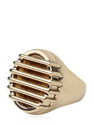 Maison Martin Margiela Eye Of Tiger Stone Ring Gold