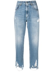 Genny Distressed Detail Jeans Blue