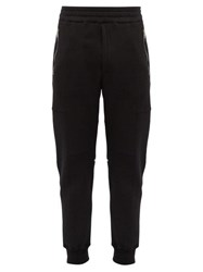 Alexander Mcqueen Zipped Cotton Track Pants Black