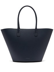 Mansur Gavriel Triangle Calf Leather Tote Navy