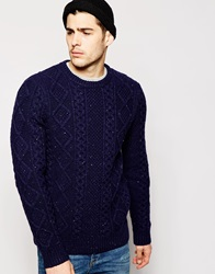 Levi's Crew Knit Jumper Fisherman Cable Multi Fleck Novotexnight