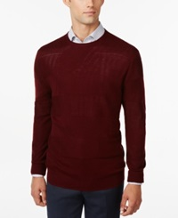 Ryan Seacrest Distinction Rugby Stripe Crew Neck Sweater Only At Macy's