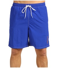 Nautica Solid Nylon Boardshort Bright Cobalt Men's Swimwear Blue