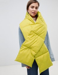 Weekday Puffer Scarf In Yellow