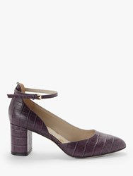 Boden Yasmin Leather Mid Heel Court Shoes Fig