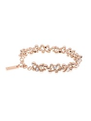 Karen Millen Evolution Crystal Bracelet Rose Gold