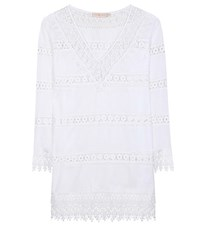 Tory Burch Cotton Dress With Crochet White