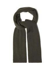 Rick Owens 75 Cashmere Scarf Green