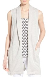 Women's Pleione Long French Terry Vest Heather Grey