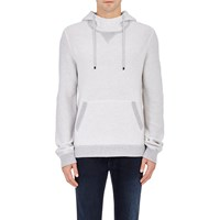 Vince Pique Knit Hoodie White